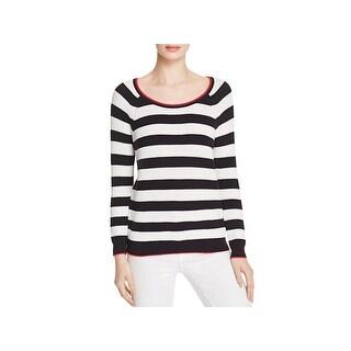 Soft Joie Womens Danila Pullover Sweater Striped Scoop Neck