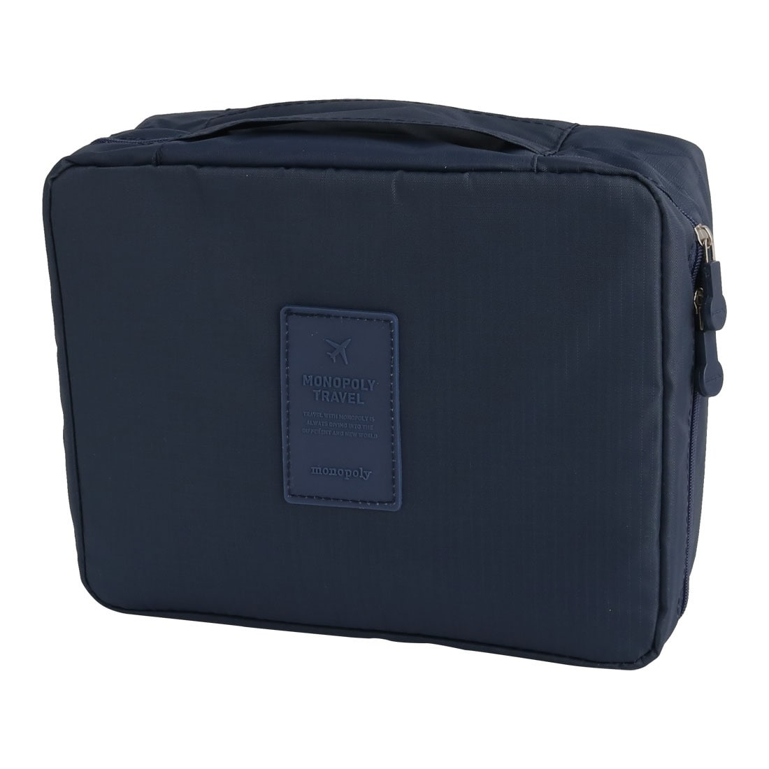 Travel Tote Pouch Cosmetic Shampoo Brush Organize Storage Bag Navy Blue