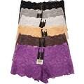 Women's 6 Pack Lace Cheeky Boyshorts Panties - Thumbnail 0