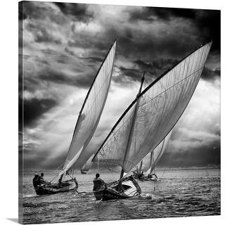 Angel Villalba Premium Thick-Wrap Canvas entitled Sailboats And Light
