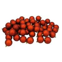 "60ct Burnt Orange Shatterproof Matte Christmas Ball Ornaments 2.5"" (60mm)"