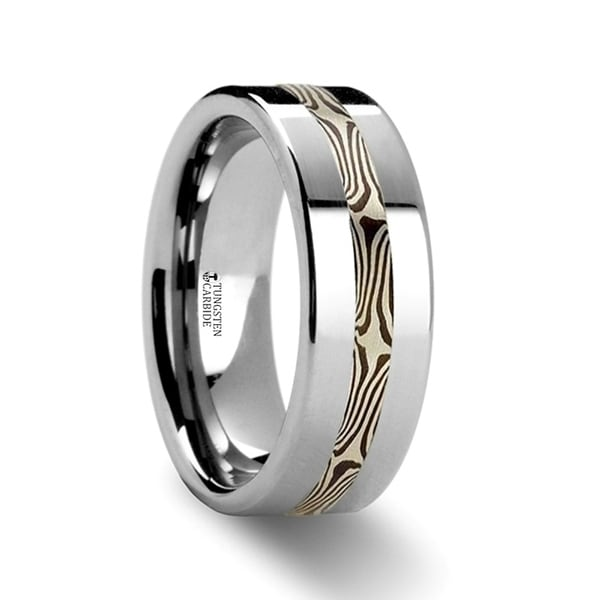THORSTEN - HALVAR Custom Mokume Gane Tungsten Ring