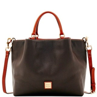 Dooney & Bourke Pebble Grain Large Barlow (Introduced by Dooney & Bourke at $348 in Aug 2017) - Chocolate