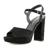 Steve Madden Womens Shaarp Canvas Peep Toe Special Occasion Slingback Sandals