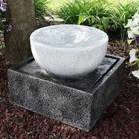 Sunnydaze Tropical Cyclone Outdoor Patio and Garden Water Fountain - 14 Inch