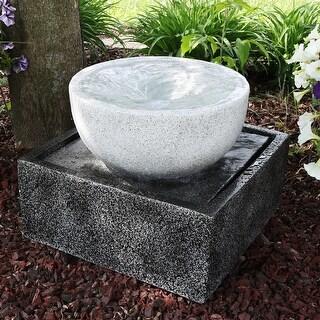 Sunnydaze Tropical Cyclone Outdoor Water Fountain - 14 Inches
