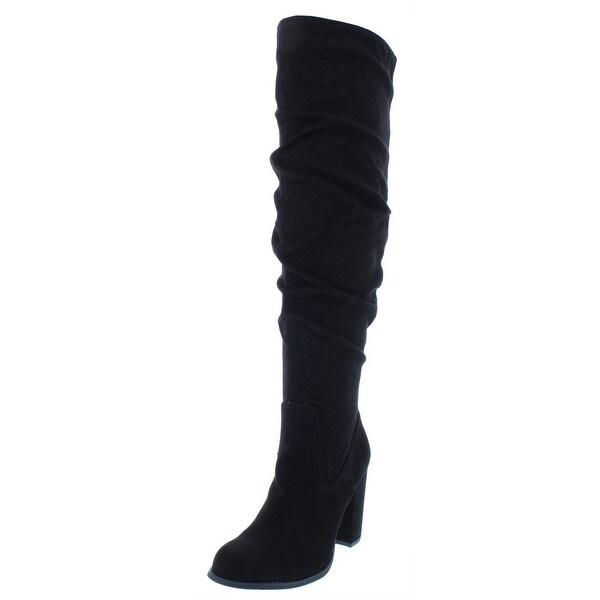 d0ee5729305 Shop Madden Girl by Steve Madden Womens Cinder Knee-High Boots Faux ...