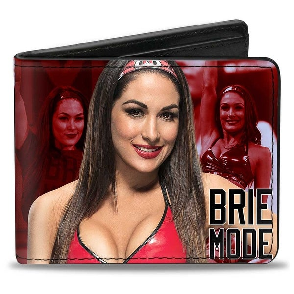 Brie Bella 2 Vivid Pose Action Pose Brie Mode Reds Black Bi Fold Wallet - One Size Fits most