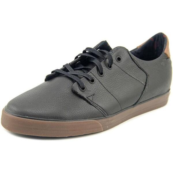 Globe Los Angered Low Men Round Toe Leather Black Skate Shoe
