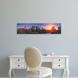Easy Art Prints Panoramic Images's 'Skylines at the waterfront, Chicago, Cook County, Illinois, USA' Canvas Art