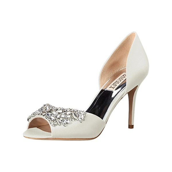 Badgley Mischka Womens Candance Evening Heels Open Toe Jeweled