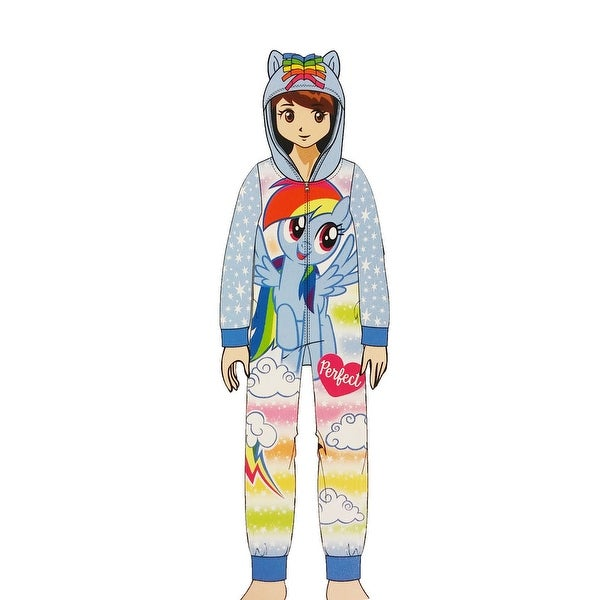 Shop My Little Pony Rainbow Dash Girls Fleece Blanket Sleeper Hooded Onesie  Pajama - Free Shipping On Orders Over  45 - Overstock - 23092584 f5d522235