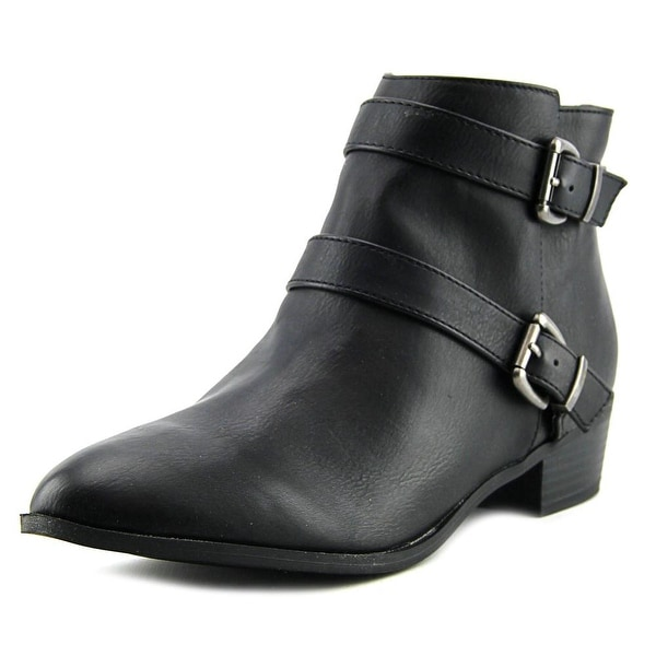 Material Girl Cady Women Round Toe Synthetic Black Bootie