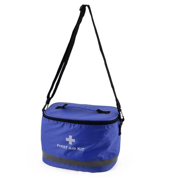 Outdoor Camping Oxford Cloth Emergency First Aid Rescue Safety Storage Bag Blue