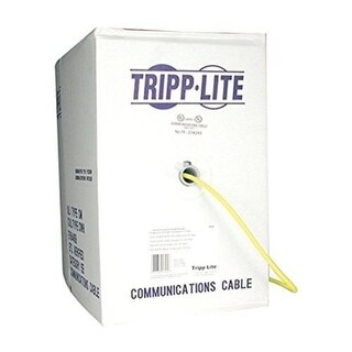 Tripp Lite N222-01K-Yw 1000Ft Cat6 Solid Core Pvc Cable-Yellow
