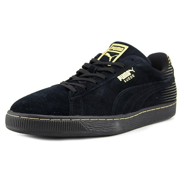 56678c54b3d Shop Puma Metallic Fade Men Round Toe Suede Black Sneakers - Free ...