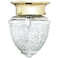 Boston Harbor RF-F-013-PB-3L One Light Ceiling Fixture, Polished Brass