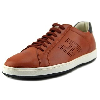 Hogan H192 Mod.Basso H Forata Men EW Round Toe Leather Orange Sneakers