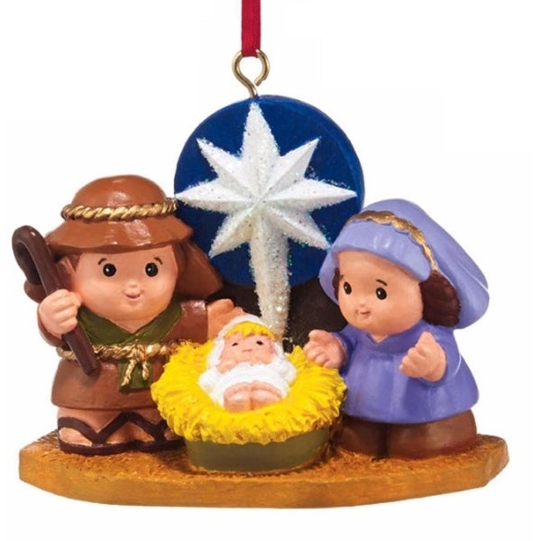 "Department 56 Fisher-Price ""Little People Nativity"" Christmas Ornament #4037443 - multi"