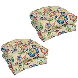 Link to Blazing Needles 19-inch U-Shaped Dining Chair Cushions (Set of 4) Similar Items in Patio Furniture