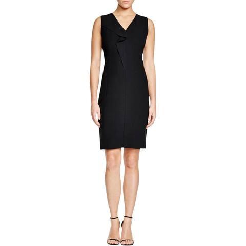 T Tahari Womens Tallie Wear to Work Dress Sleeveless Ruffled