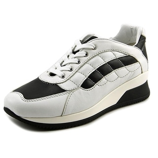 Hogan Elective Seaker Con Ala Round Toe Leather Tennis Shoe