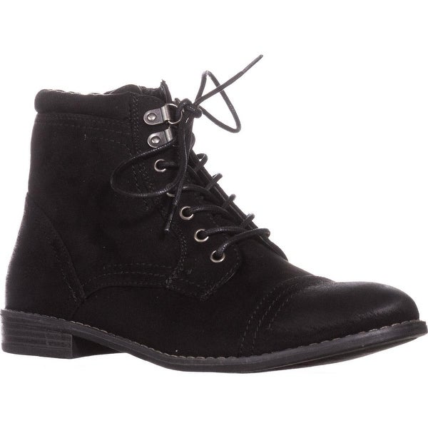 White Mountain Tifton Short Combat Boots, Black
