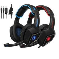 SADES Spirit Wolf Gaming Headset 3.5mm Wired Stereo Deep Bass Headphone with MIC For PS4 Xbox one newverstion