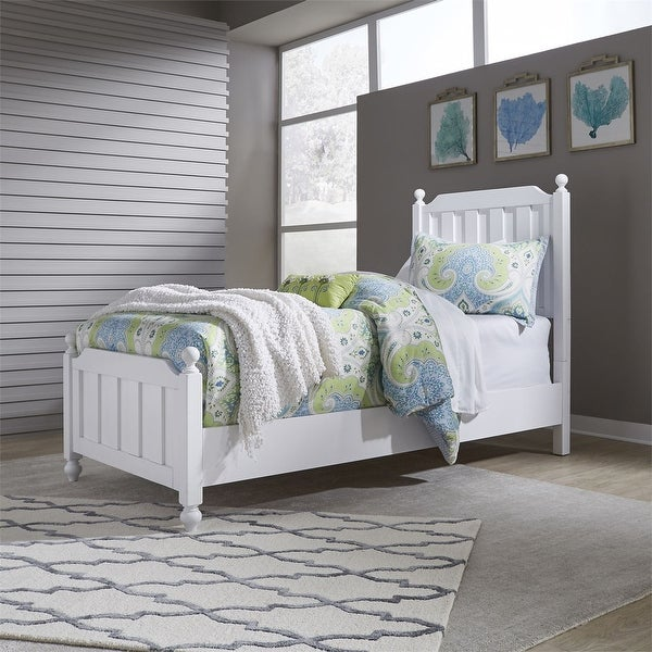 Copper Grove Marten White Twin Panel Bed. Opens flyout.