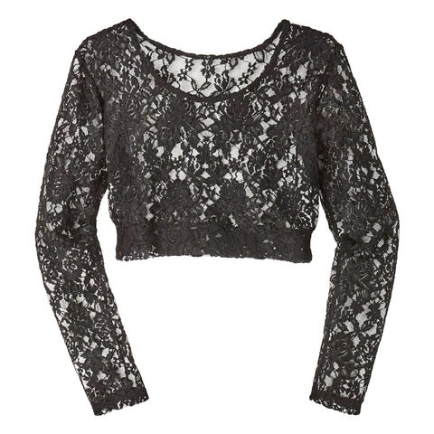 Women's Lacey Long Sleeve Layering Top