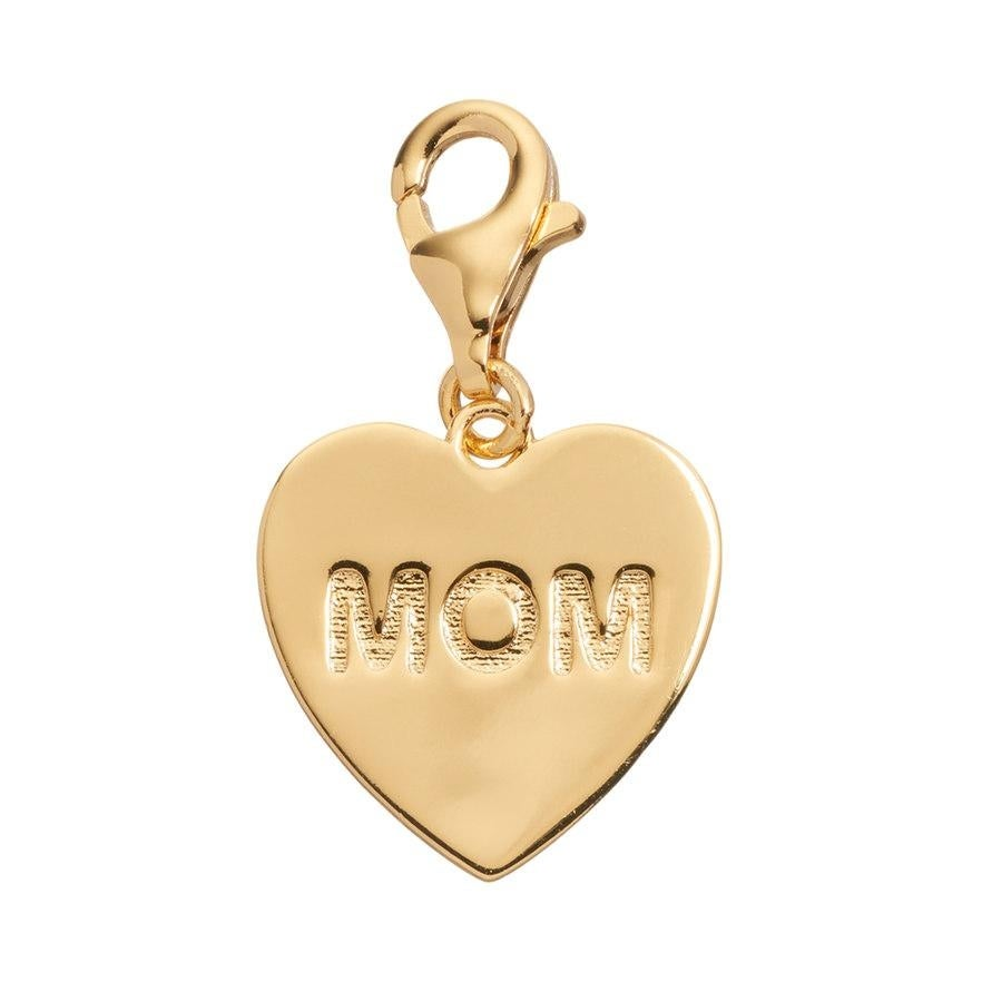 Julieta Jewelry 'Mom' Heart Plate Clip-On Charm - Thumbnail 0