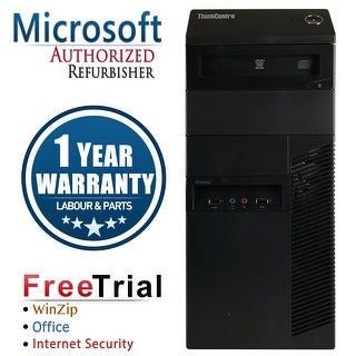 Refurbished Lenovo ThinkCentre M91P Tower Intel Core I7 2600 3.4G 4G DDR3 250G DVD Win 7 Pro 1 Year Warranty - Black