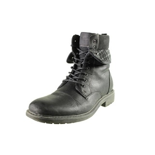 Madden Mens M-Neptun Combat Boots Faux Leather Fold-Over