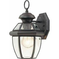 """Volume Lighting V9279 1 Light 11.75"""" Height Outdoor Wall Sconce with Clear Bevel"""