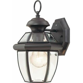 "Volume Lighting V9279 1 Light 11.75"" Height Outdoor Wall Sconce with Clear Bevel"