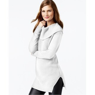Michael by Michael Kors Mixed Knit Cowlneck Tunic Sweater - M