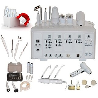 7-in-1 Multifunction Facial Machine: Diamond Microdermabrasion, Exfoliating Rotary Brush, High Frequency, Ultrasonic Cleanser