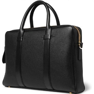 Tom Ford Buckley Medium Black Leather Briefcase