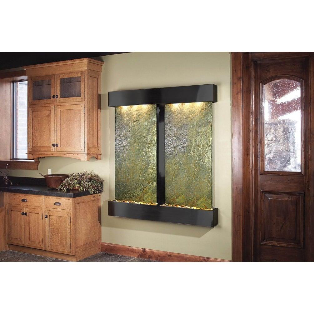 Adagio Cottonwood Falls Fountain w/ Green Natural Slate in Blackened Copper Fini - Thumbnail 0