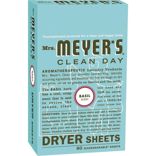 Mrs. Meyer's 80Ct Basil Dryer Sheets