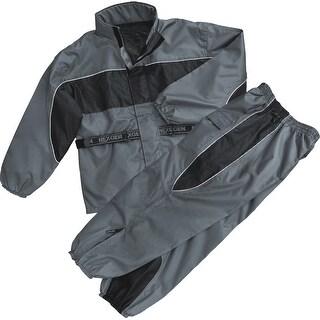 Mens Water Resistant Rain Suit - Reflective Piping