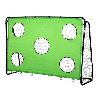Link to Soozier 8 x 3ft Soccer Goal Target Goal 2 in 1 Design Indoor Outdoor Backyard with All Weather PE Net Best Gift Similar Items in Team Sports Equipment