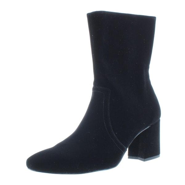 31791c3303 IMNYC Isaac Mizrahi Womens Lynn Mid-Calf Boots Velvet Square Toe - 9.5  Medium (