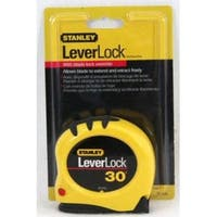 "Stanley 30-830 Leverlock Tape Rule With Mylar Protected Blade, 1""x 30'"