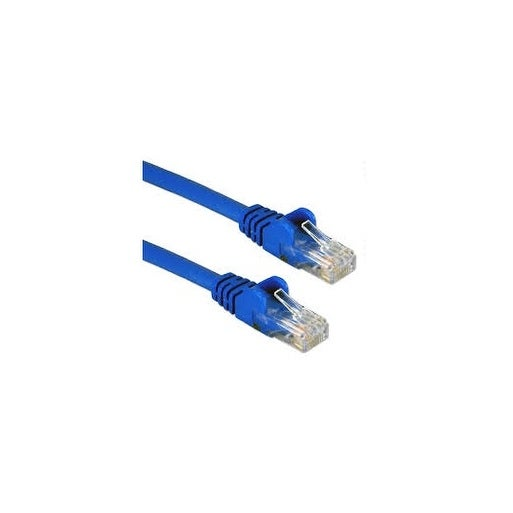 Qvs Cc6-07Bl 3-Pack 7Ft Cat6/Ethernet Gigabit Flexible Molded Blue Patch Cord