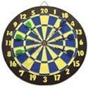 """15"""" Wooden Dart Board with Darts"""