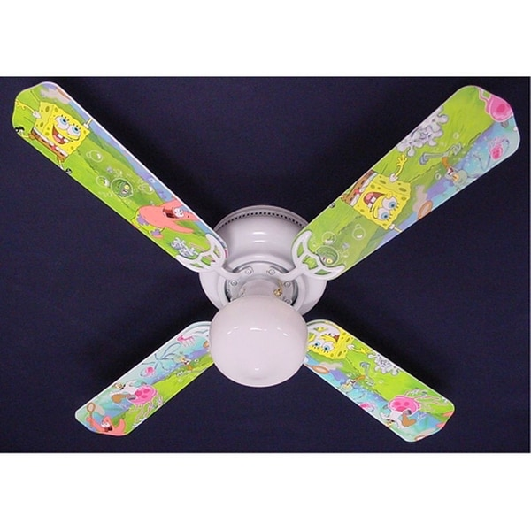 Nickelodeon Sponge Bob Print Blades 42in Ceiling Fan Light Kit - Multi