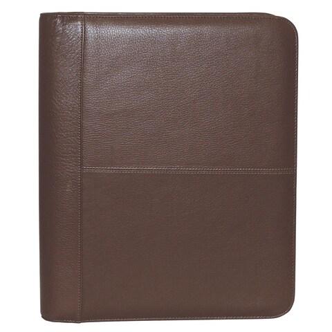 Buxton Genuine Leather Zip-Around Portfolio - One size