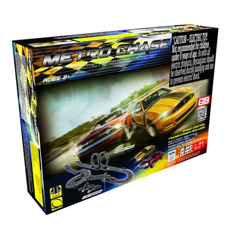 Metro Chase Road Racing Slot Car Set - Electric Powered