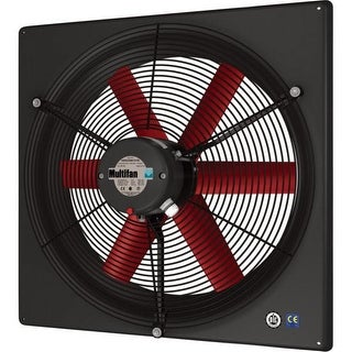 Multifan V4D35K1M71100 14 Inch Exhaust Fan Three Phase 240/460V - multi